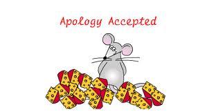 tiếng Anh giao tiếp, chấp nhập lời xin lỗi